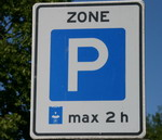 blauwe zone max 2 uur