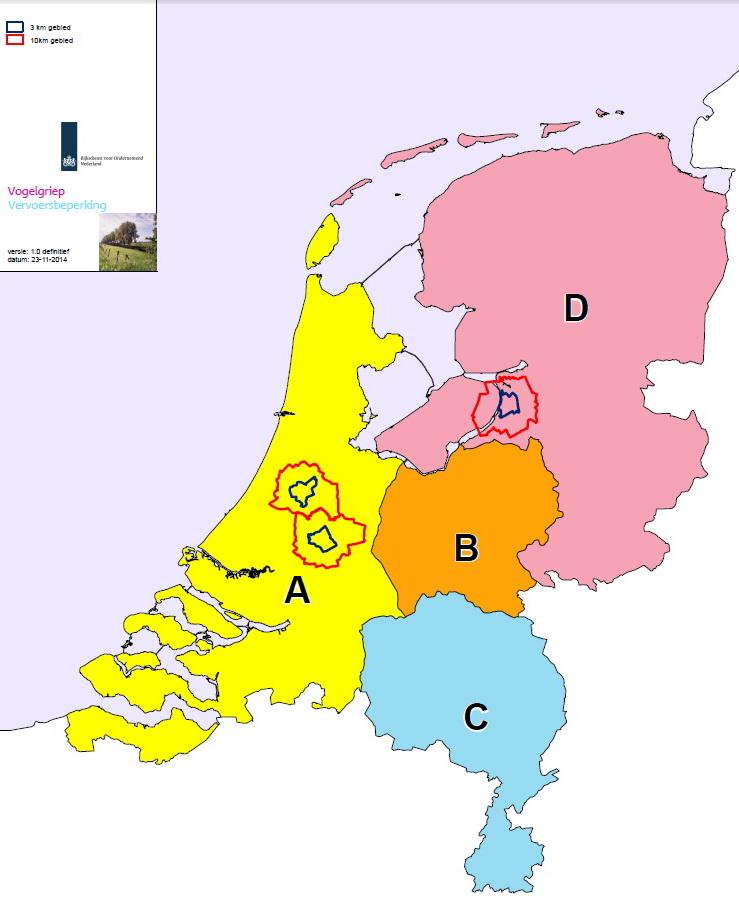 Vogelgriep - regios