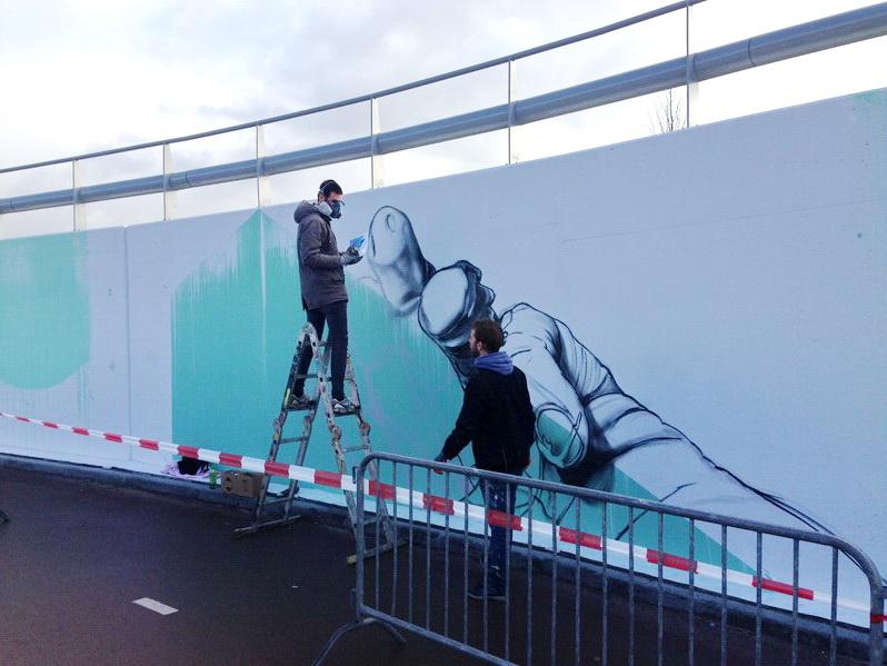graffiti fietstunnel structuurweg Wijboscheweg