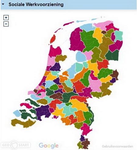 Sociale werkvoorziening Ned kaart 2