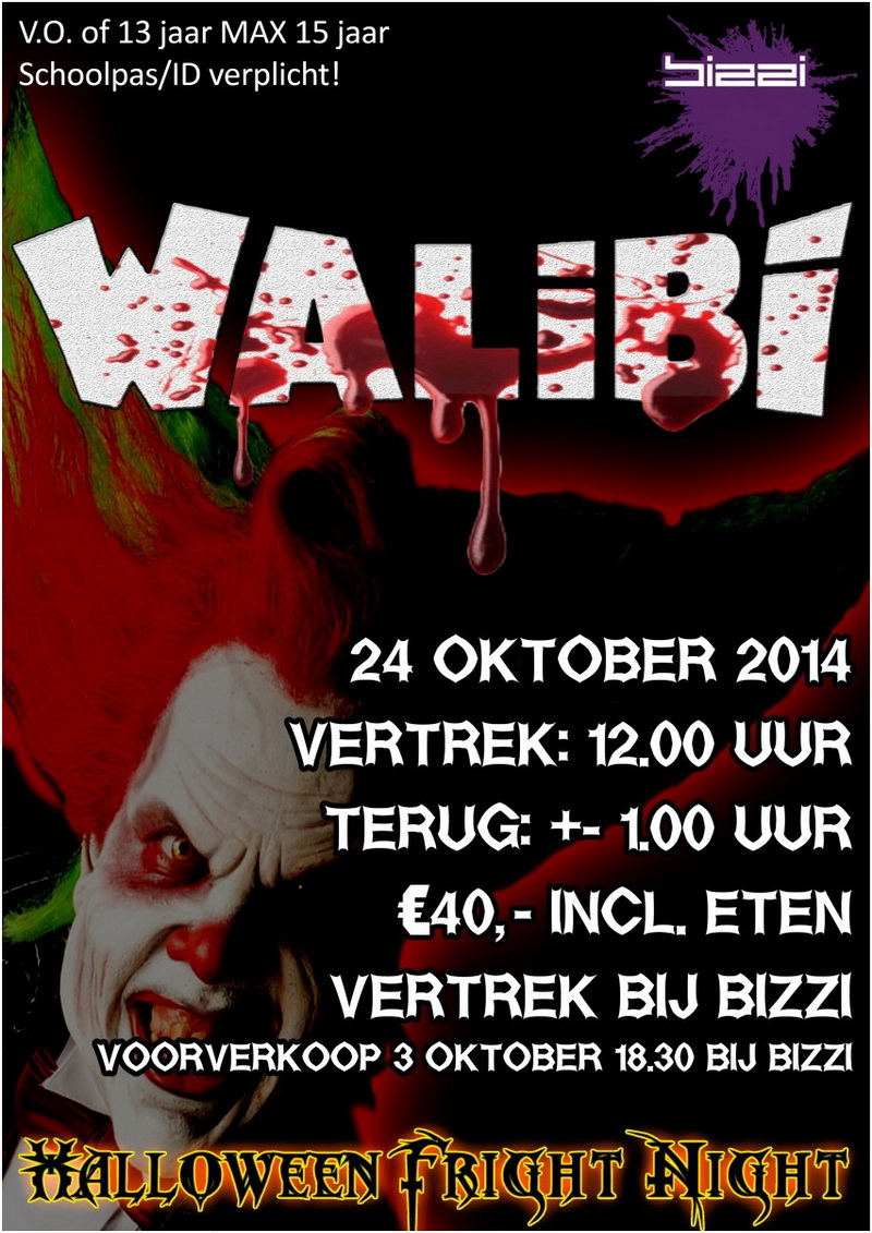 Halloween Fright Nights 2019 Walibi.Met Bizzi Naar Walibi Fright Night