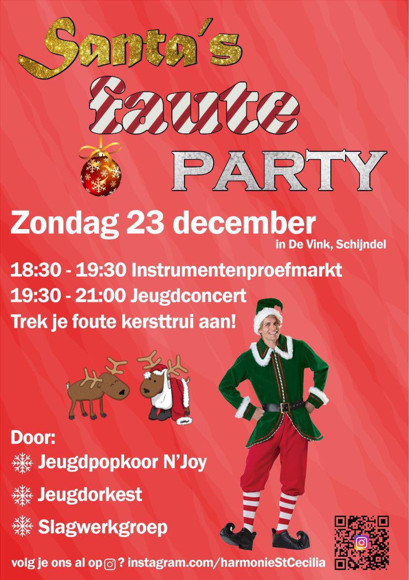 Kersttrui Dab.Santa S Faute Party Optredens En Instrumentenproefmarkt